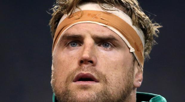 Ireland's Jamie Heaslip will win his 100th cap against Wales