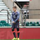 Owen Farrell, left, is a doubt for England's match against Scotland