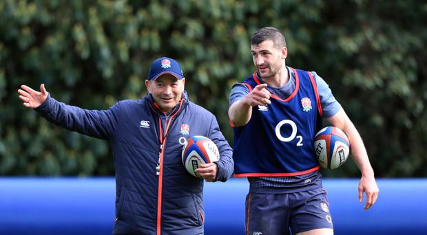 England head coach Eddie Jones, left, and Jonny May hope to help the Red Rose claim more records on Saturday