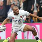 England's Jonathan Joseph scored a hat-trick of tries during the RBS 6 Nations match at Twickenham