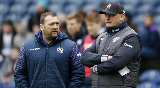 Jonathan Humphreys, assistant coach (left) and Vern Cotter, Scotland head coach