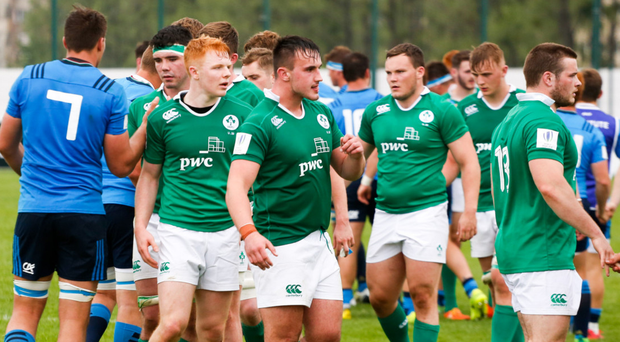 Tough start: Ireland's U20s trudge off after losing their first tie at the World U20 Championship to Italy by a single point