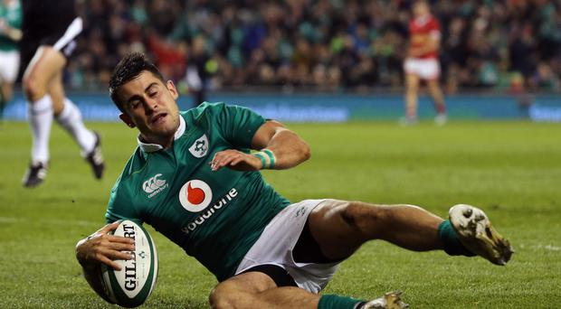 Ireland's Tiernan O'Halloran played in the easy win over USA on Saturday night