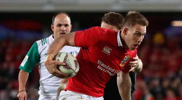 Trying time: Liam Williams gifted the All Blacks a score