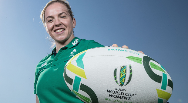 In hand: Ireland captain Niamh Briggs insists her girls are determined to seize their once-in-a-lifetime chance of success in a home World Cup
