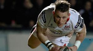 Scoring touch: Craig Gilroy grabbed a try for Ulster 'A'