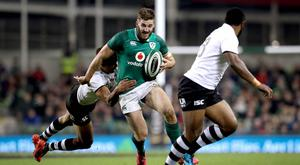 Ulster's Stuart McCloskey in action against Fiji