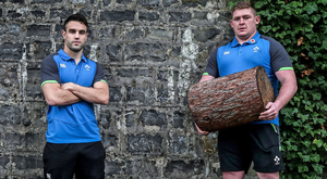 Standing tall: Ireland duo Conor Murray and Tadhg Furlong at Carton House