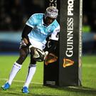 Impact: Connacht's Niyi Adeolokun in action