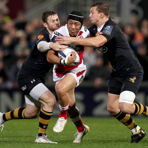 Running man: Christian Leali'ifano wants to help Ulster reach the European quarter-finals before he returns to Brumbies
