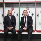 England head coach Eddie Jones (left) and RFU CEO Steve Brown during the photocall and press conference at Twickenham