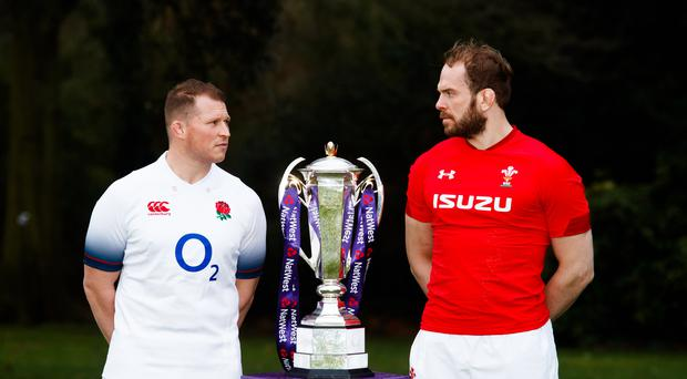 England captain Dylan Hartley (left) and Wales counterpart Alun Wyn Jones will face off next week