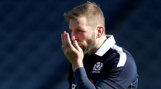 Scotland's captain John Barclay is not listening to Eddie Jones' comments