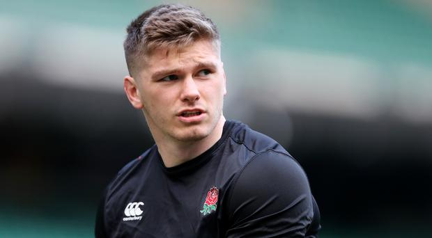 Owen Farrell was allegedly involved in a clash ahead of kick off