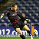 Greig Tonks, pictured during his time at Edinburgh, impressed with the boot for London Irish