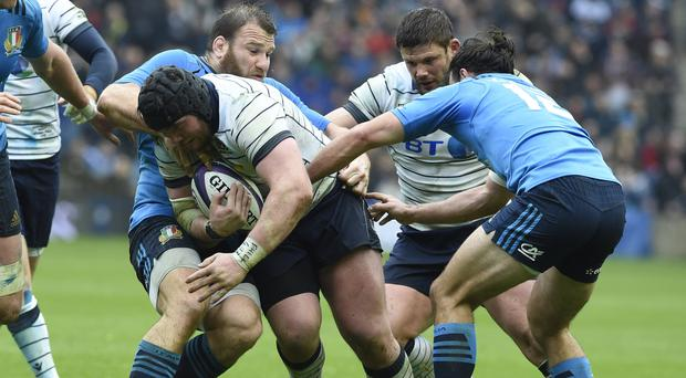 Zander Fagerson, centre left, is back in contention for Glasgow and possibly Scotland