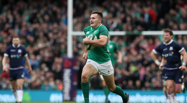 Jacob Stockdale sets Ireland on their way to victory