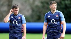 George Ford (left) has been dropped by England, to be replaced at fly-half by Owen Farrell (right).