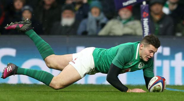Ireland's Jacob Stockdale is aiming high