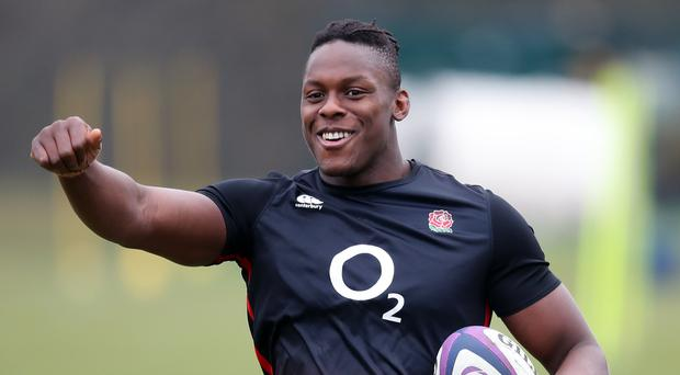 England's Maro Itoje during a training session at Pennyhill Park, Bagshot.