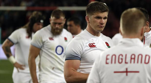 Owen Farrell is not panicking after last week's defeat at Ellis Park (Themba Hadebe/AP)