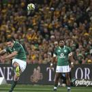 Ireland's Johnny Sexton kicked 15 points in the 20-16 win over Australia (Rick Rycroft/AP)