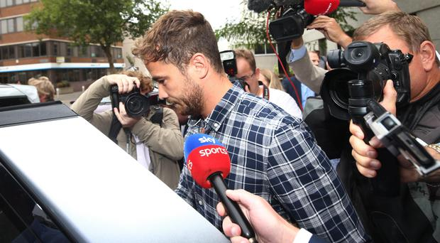 England rugby player Danny Cipriani leaves Jersey Magistrates' Court, Yui Mok/PA