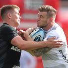 Saracens' Owen Farrell (left) won praise for his performance in the win over Gloucester (Andrew Matthews/PA).