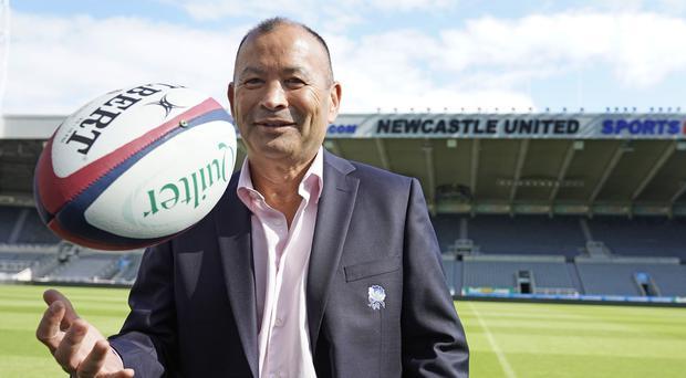 Eddie Jones is under contract until the Rugby World Cup (Owen Humphreys/PA)