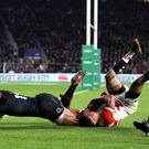 Joe Cokanasiga, left, scores the late try which put the game to bed (Andrew Matthews/PA)