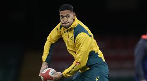 Israel Folau, pictured, is a doubt for Saturday's Test with England due to a stomach bug (David Davies/PA)