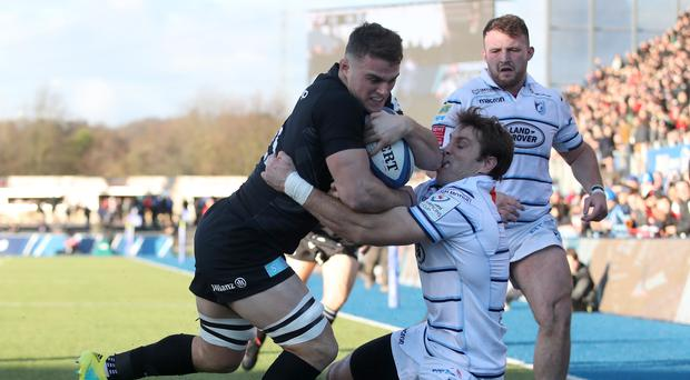 Ben Earl touches down for Saracens (Adam Davy/PA)