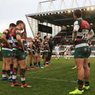 Leicester Tigers players stand dejected (PA)