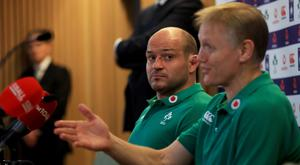 Rory Best, left, has backed Joe Schmidt for a future British and Irish Lions coaching role (Donall Farmer/PA)