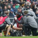 Wasps' Joe Launchbury receives treatment in Coventry (David Davies/PA)
