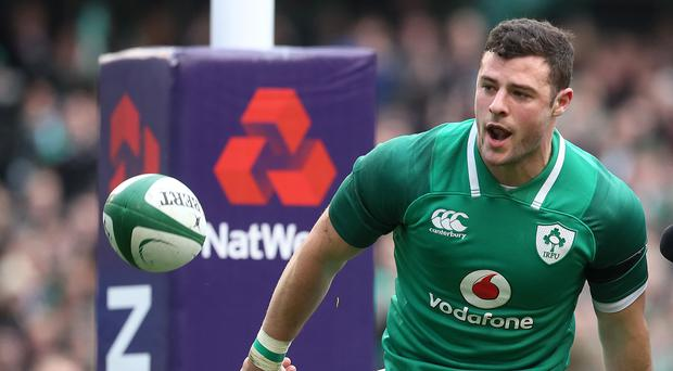 Robbie Henshaw has been selected at full-back for Ireland's Six Nations opener with England (Brian Lawless/PA)
