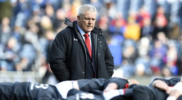 Warren Gatland's Wales are one win away from a Six Nations Grand Slam (Ian Rutherford/PA)