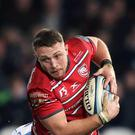 Ruan Ackermann went over for one of Gloucester's tries (Andrew Matthews/PA)