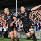 Exeter secured a spot in the Premiership semi-finals with victory over Bath (Mark Kerton/PA)