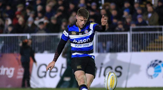 Bath's Rhys Priestland kept his nerve late on at Leicester (Tim Goode/PA)