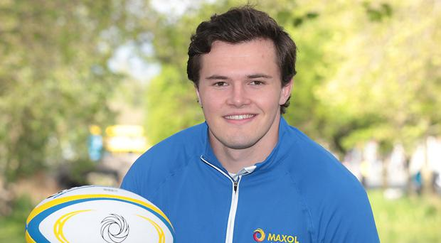 High aims: Jacob Stockdale is relishing the chance to win the World Cup with Ireland in Japan