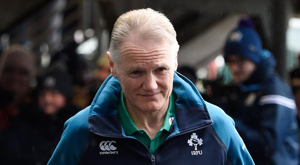 Joe Schmidt, pictured, might not lead Ireland against Italy following a family bereavement (Ian Rutherford/PA)