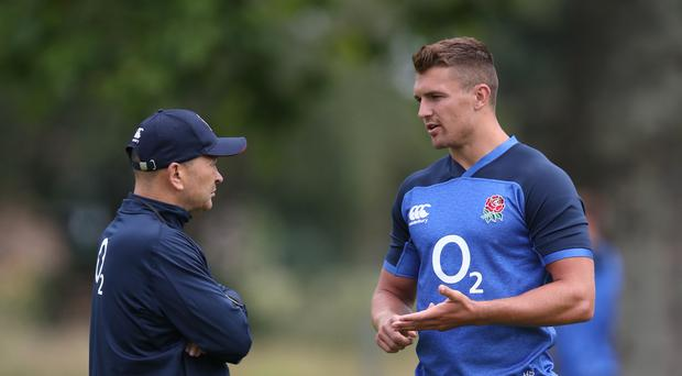 Henry Slade right has withdrawn from the England squad
