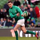 Ireland's Johnny Sexton is not fit to play against England (Brian Lawless/PA)