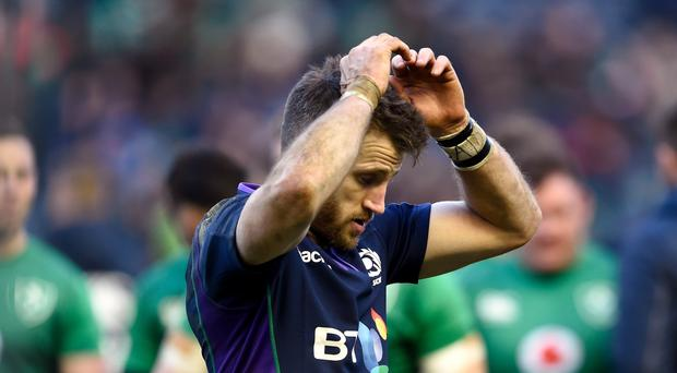 Tommy Seymour did not enjoy his team-mate's struggles (Ian Rutherford/PA)