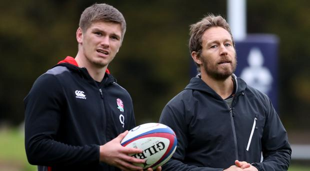 Jonny Wilkinson (right) believes England and Owen Farrell (left) can win the 2019 World Cup (Adam Davy/PA)