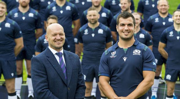 Scotland coach Gregor Townsend, left, has decided to protect several of his key players (Ian Rutherford/PA)