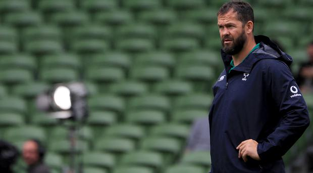 Andy Farrell says Ireland naming their World Cup squad six days ahead of plans has handed Joe Schmidt's group a boost (Donall Farmer/PA)