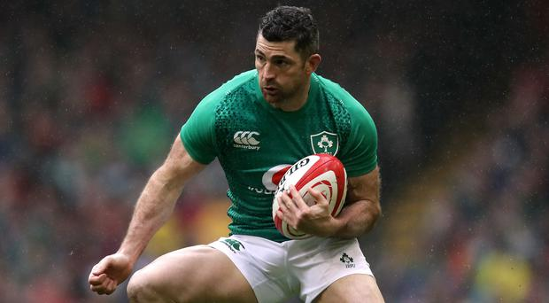 Rob Kearney, pictured, could miss Ireland's World Cup opener against Scotland due to a suspected calf complaint (Adam Davy/PA)