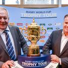 World Rugby boss Brett Gosper, right, has raised fears for rugby's future (Ben Birchall/PA)